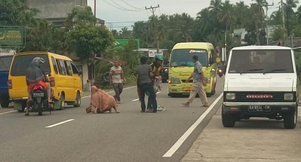 Kecelakaan lalu lintas di Sungai Limau, Senin (4/1/2021)