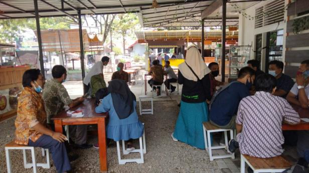 Cafe di kawasan GOR Haji Agusalim Padang