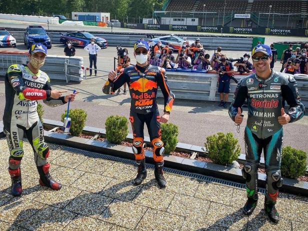 Podium MotoGP Ceko 2020