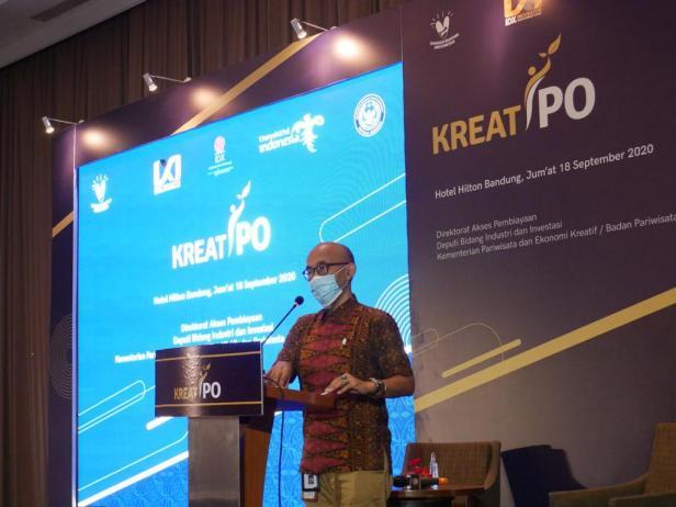 Seminar KreatIPO yang di Hotel Hilton,  Bandung, Jumat (18/09/2020)