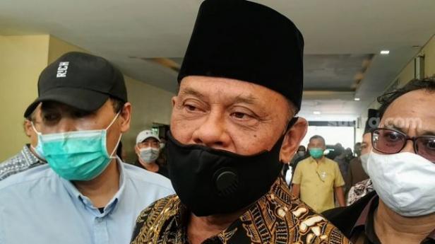 Ketua Presidium KAMI Gatot Nurmantyo di Gedung Bareskrim Polri.