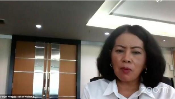 Sekertaris Jenderal Kementerian Komunikasi dan Informatika, Rosarita Niken Widiastuti