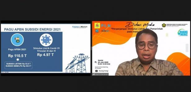 Diskusi Media bertajuk 'Perpanjangan Stimulus dari Pemerintah pada Masa PPKM'