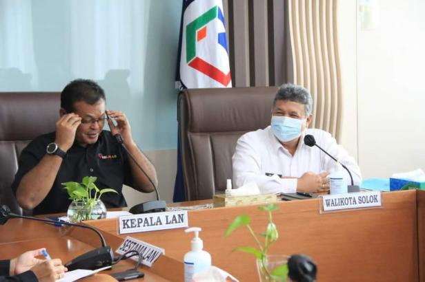 Wali Kota Solok, H. Zul Elfian bertemu Kepala LAN RI