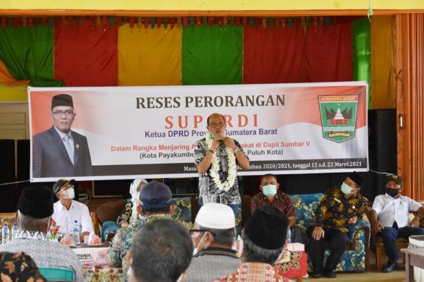 Ketua DPRD Sumatera Barat, Supardi