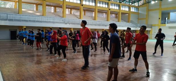 Latihan bersama atlet PON XX