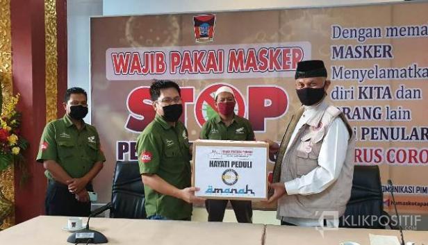 Penyerahan Bantuan APD dari PT HPM ke Pemerintah