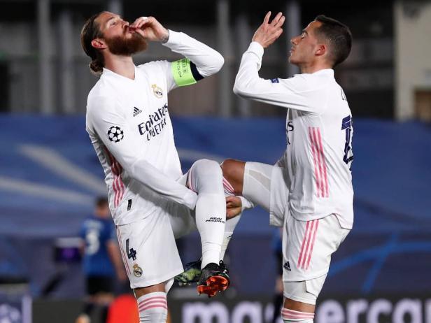 Selebrasi pemain Real Madrid