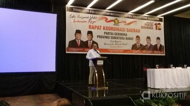 Ketua DPD Gerindra Sumbar Andre Rosiade