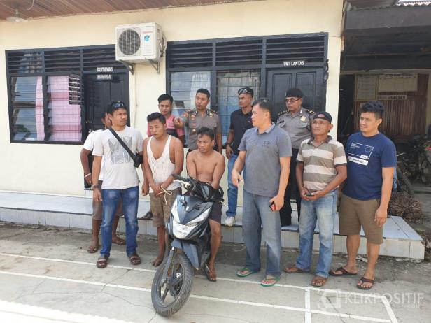 Tengah, dua pelaku pencurian setelah diamankan polisi