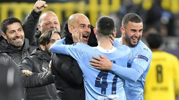 City berhasil unggul 1-2 dari PSG