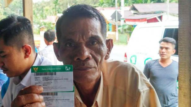 Salah seorang peserta program JKN-KIS, Mawardi (59 tahun)
