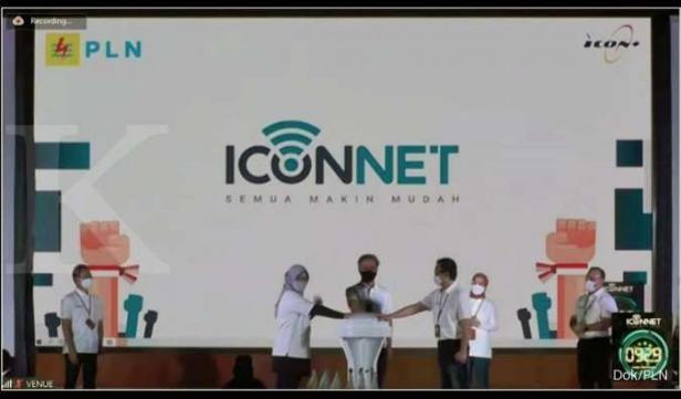 PLN melalui anak perusahaan PT Indonesia Comnets Plus (Icon+) adakan launching brand layanan internet broadband anyar Icon+ yaitu Iconnet
