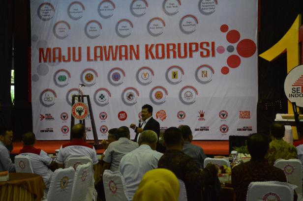 Salah satu kegiatan GCG Semen Padang dengan menghadirkan narasumber dari KPK pada 2019.