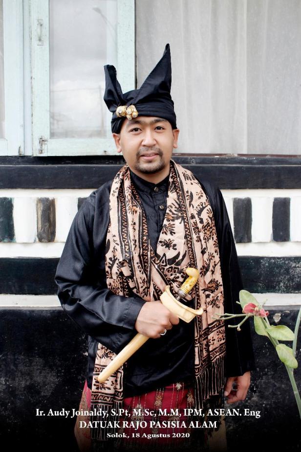 Cawagub Sumbar, Ir. Audy Joinaldy, S.Pt, M.Sc, M.M, IPM, ASEAN.Eng