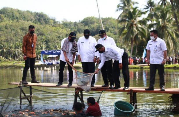 areal kolam ikan masyarakat di Jorong Rambahan Baru, Nagari Tanjung Betung, Kecamatan Rao Selatan, Pasaman, Jumat (4/6/2021).