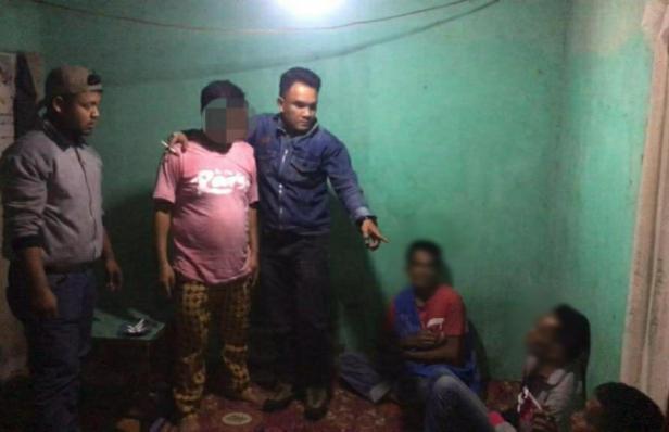 Tak berkutik, pelaku diamankan petugas di jorong Balai Dama