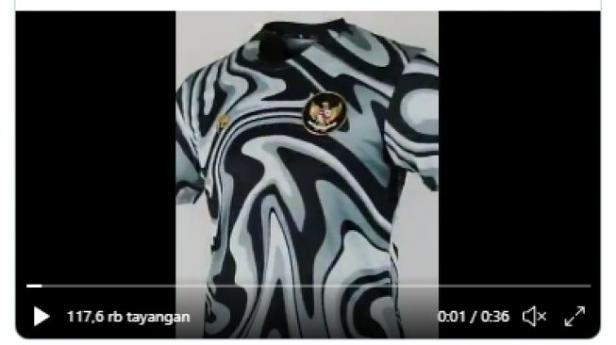 Jersey baru untuk kiper Timnas Indonesia