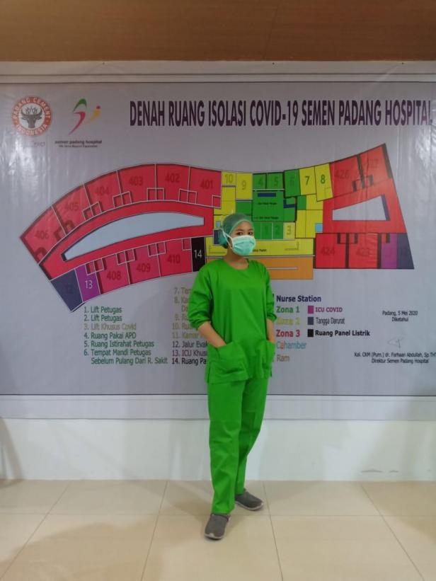 perawat di Semen Padang Hospital (SPH), Nurussyamsi Walqamari, AMd.Kep