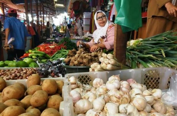Pedagang komoditas pangan di Pasar Batusangkar