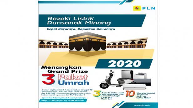 Poster Program Rezeki Listrik Dunsanak Minang Tahun 2020