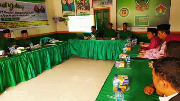 Penyampaian Visi Misi Bacalon Wako dan Wawako Reinier-Andri Maran di PPP Kota Solok