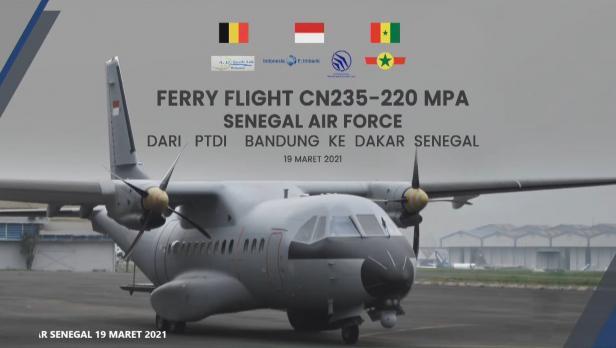 CN235-220 Maritime Patrol Aircraft (MPA) yang dieskpor ke Senegal