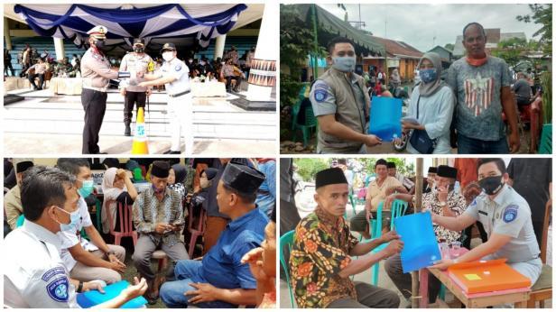 Dokumentasi PT Jasa Raharja Cabang Sumatera Barat menyerahkan santunan kepada korban kecelakaan lalu lintas di wilayah Sumatera Barat