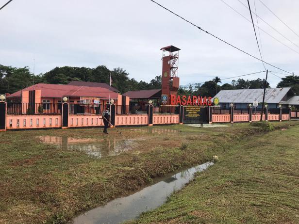 Keadaan di luar Kantor SAR Kabupaten Kepulauan Mentawai