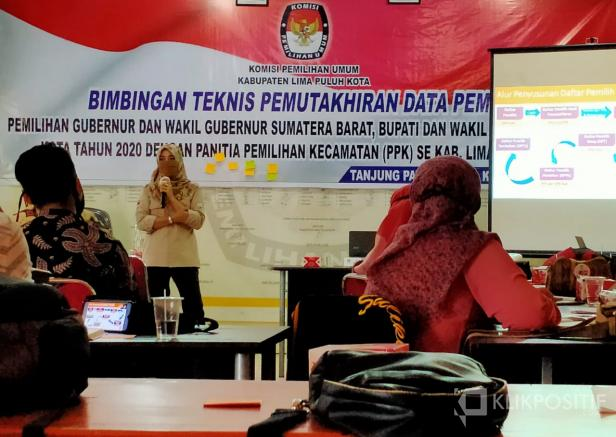 Bimtek KPU bersama PPK se-Kabupaten Lima Puluh Kota.