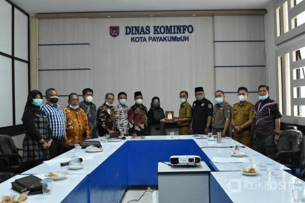 Pelajari Penerapan Smart City, DPRD Kota Dumai Kunjungi Diskominfo Kota Payakumbuh.
