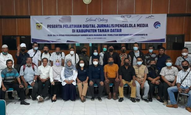 Peserta pelatihan digital jurnalis yang digelar Kemenkominfo