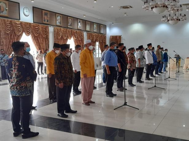 Andri Warman-Fikri Ikuti Gladi bersih pelantikan di Gubernuran Sumbar