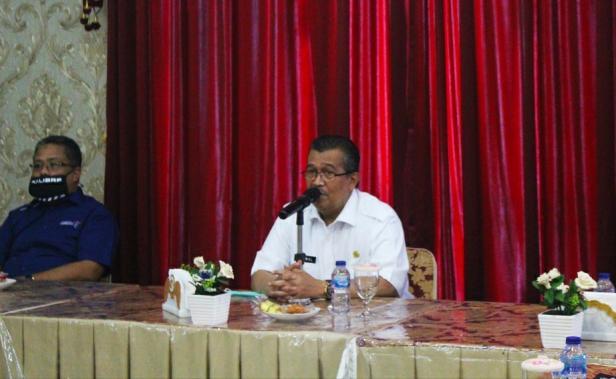 Bupati Solok, H. Gusmal sampaikan komitmen pemerintah kabupaten Solok membangun ekonomi masyarakat melalui pariwisata.