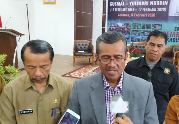 Bupati Solok, H. Gusmal saat refleksi 4 tahun kepemimpinan Bupati dan Wakil Bupati Solok