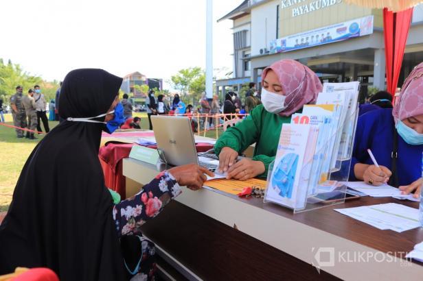 Pemko Payakumbuh Siapkan Stand Khusus Vaksinasi Bagi Lansia di Halaman Balai Kota