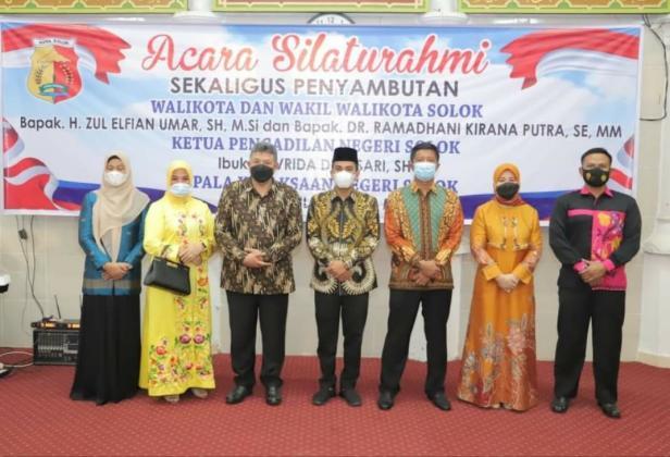 Wako dan Wawako Solok serta ketua DPRD silahturahmi dengan Kajari serta Ketua Pengadilan Negri yang baru