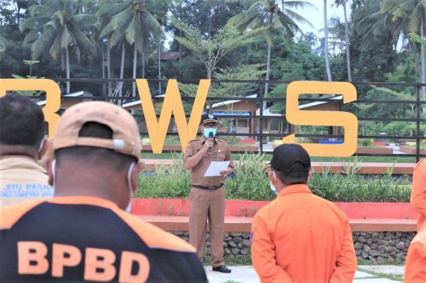 Peringati Hari Kesiapsiagaan Bencana 2021, BPBD Payakumbuh Gelar Apel dan Latihan Evakuasi Bencana
