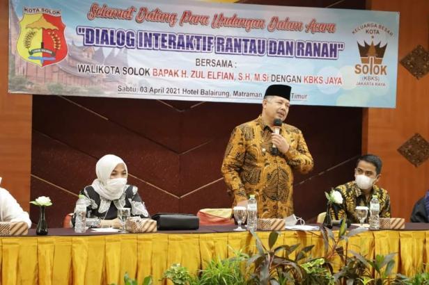 Wako Solok, H. Zul Elfian paparkan program pembangunan kota Solok di hadapan pengurus KBKS Jaya