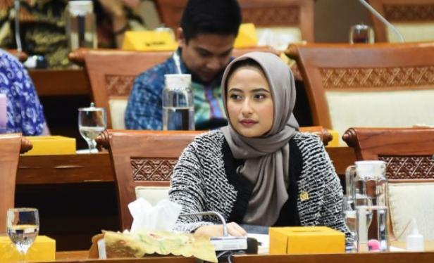 Anggota Komisi VII DPR RI, Dyah Roro Esti Widya Putri di Ruang Rapat Komisi VII DPR RI, Kompleks Parlemen, Senayan, Jakarta