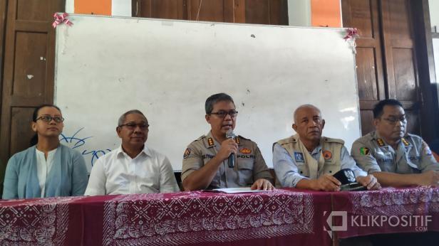 Kabid Humas Polda DIY Kombes Pol Yulianto  saat melakukan konferensi pers di SMPN 1 Turi, Sleman beberapa waktu lalu