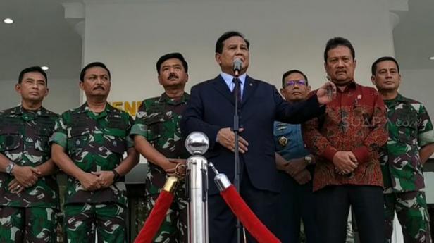 Menteri Pertahanan (Menhan) RI Prabowo Subianto.