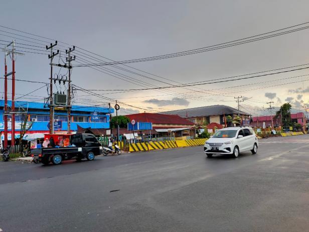 Proyek pendestrian di Jalan Sudirman-Soekarno Hatta Kota Payakumbuh.