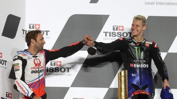 Zarco dan Quartararo di podium