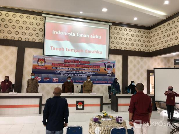 Rapat pleno terbuka rekapitulasi suara tingkat Kota Payakumbuh.