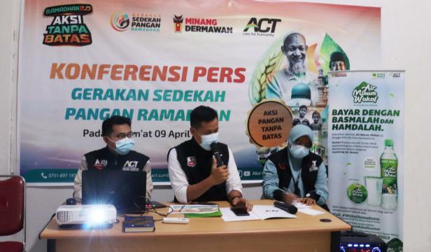 Konferensi pers Aksi Tanpa Batas ACT