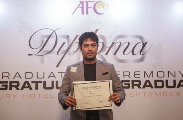 Nil Maizar saat AFC Pro Diploma tahun lalu.
