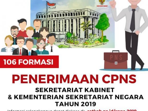 Pengumuman seleksi penerimaan CPNS tahun 2019 Setkab dan Kemensetneg.