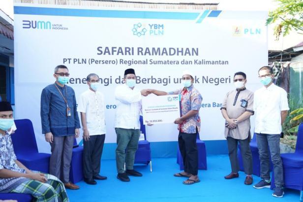 PT PLN (Persero) UIW Sumbar menggelar Safari Ramadhan bersama Direktur Regional Sumatera dan Kalimantan PT PLN (Persero) melalui Video Conference pada Rabu, (21/04) di Panti Asuhan Al Fath Tauhid.