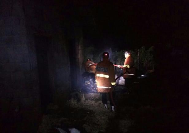 Kebakaran rumah di Nagari Tabek Patah, Kecamatan Salimpaung, Tanah Datar